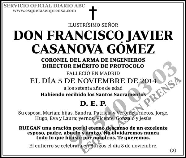 Francisco Javier Casanova Gómez